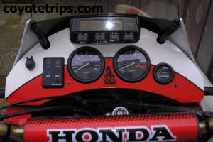 Honda Africa Twin RD07 with Dashboard
